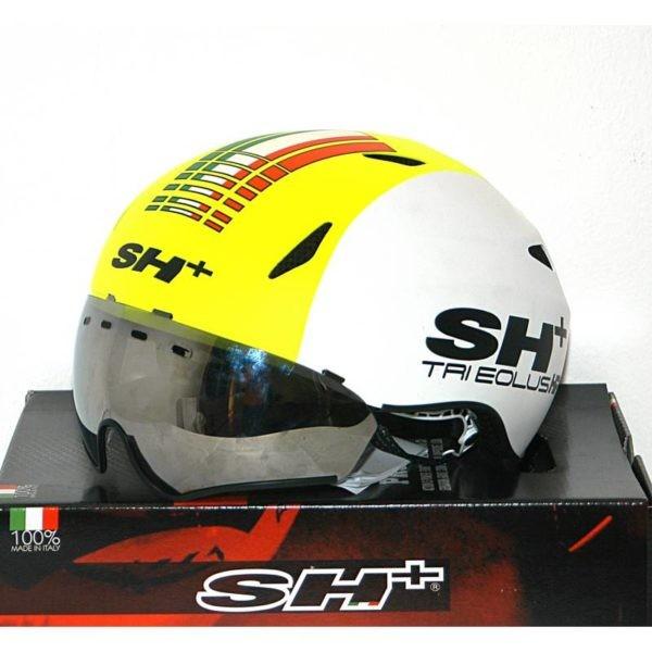 harga Sh+ tri eolus hf helmet  white yellow Tokopedia.com
