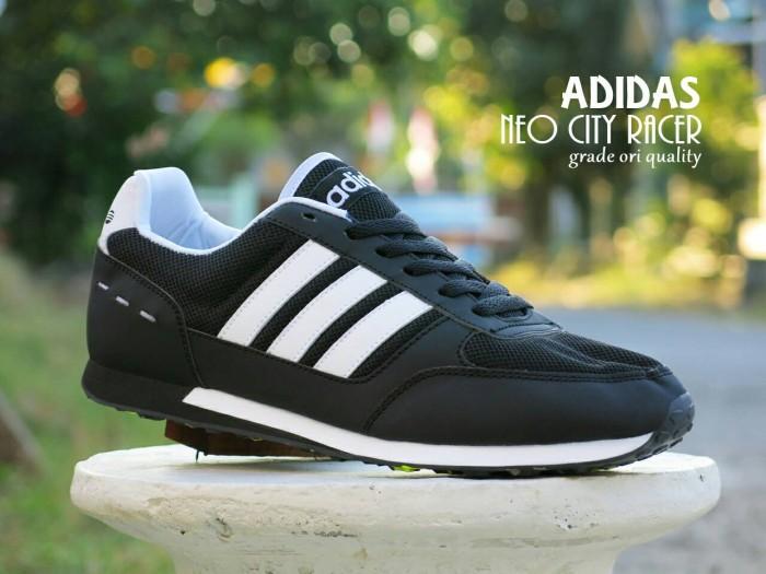 Jual Sepatu Sport Adidas Neo City Racer Hitam Putih   casual kets ... c0809a6e10