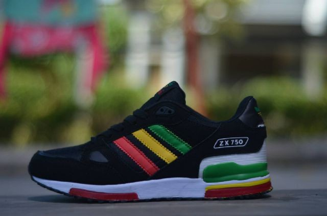 ... big sale Jual SEPATU PRIA ADIDAS ZX 750 HITAM RASTA IMPORT - Jka Shoes  Store . ... b020caa128