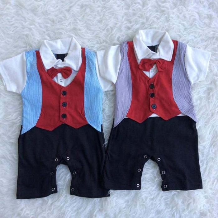 harga Jake style fashion gentlement romper baju pesta bayi jas tuxedo anak Tokopedia.com