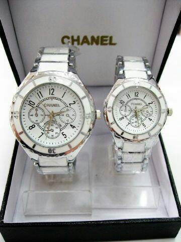 harga Jam tangan chanel couple silver white Tokopedia.com