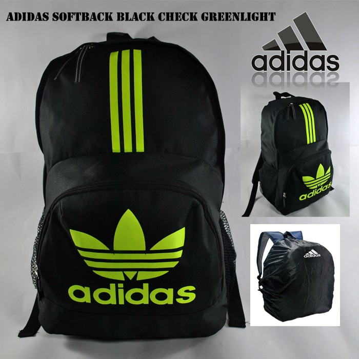 Tas ransel adidas softback black greenlight free rain cover