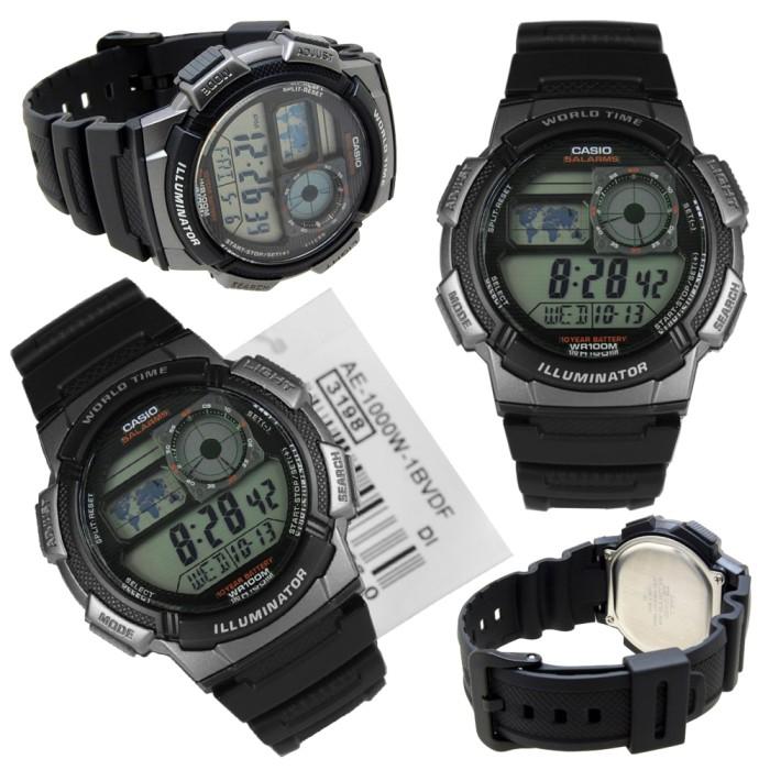harga Jam tangan pria casio ae-1000-w-1bvdf black resin strap water resist Tokopedia.com