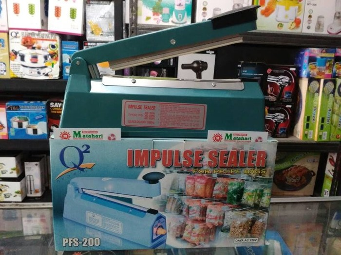 Alat pres plastik/Impulse sealer 20 cm (Free Bubble&Safety)