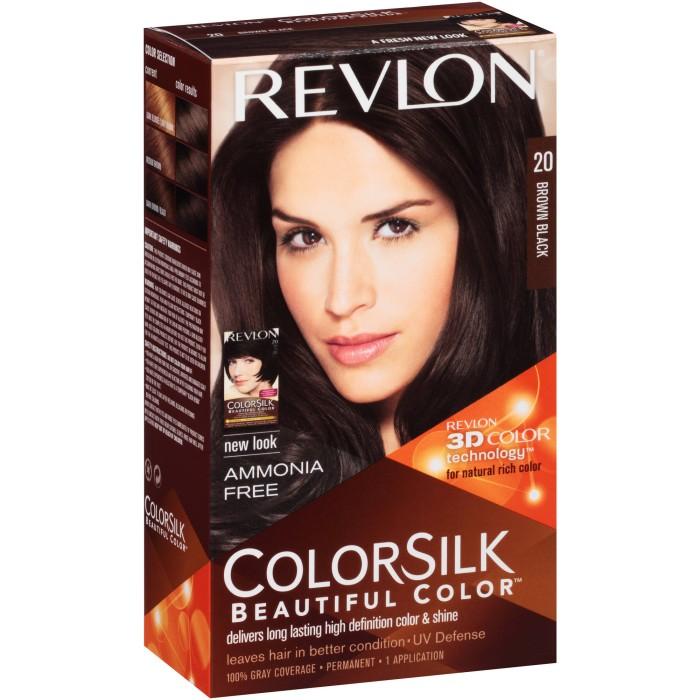 Revlon Colorsilk Hair 20 Brown Black Cat Pewarna Rambut Coklat