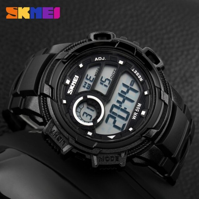 Jam Tangan Pria SKMEI Casio Men Sport LED Watch Water Resistant 50m