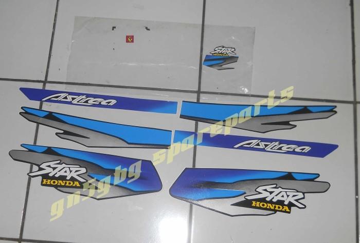 Jual Striping Stiker Polet Astrea Star 97 Warna Biru Gn5 Motor