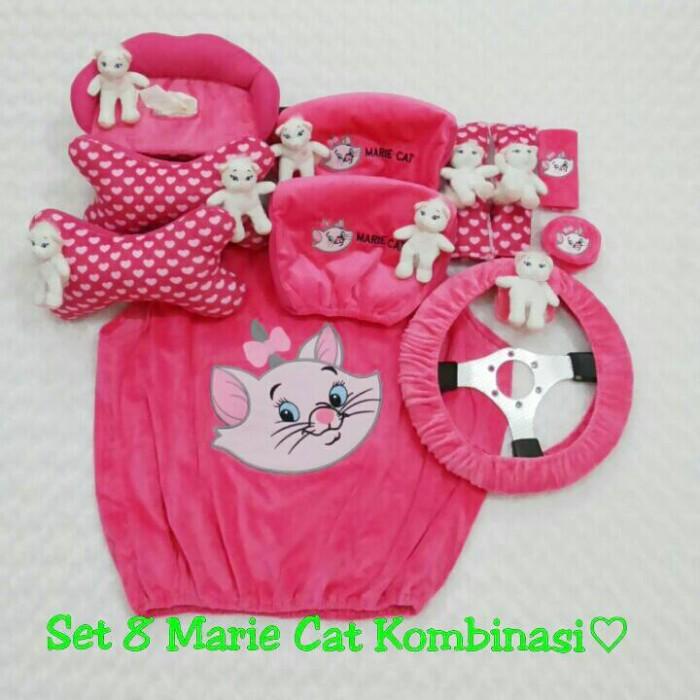 harga Set car/sarung jok/bantal mobil boneka kucing/marrie cat/fanta 8 in 1 Tokopedia.com