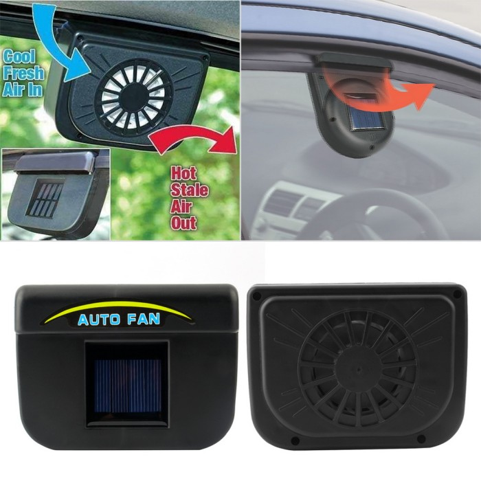 Foto Produk Solar power fan Kipas Pendingin mobil tenaga matahari surya auto vent dari Toko Hoki Makmur