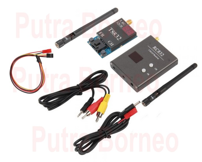 harga Ts832 & rc832 48ch audio video transmitter-receiver tx-rx for fpv Tokopedia.com