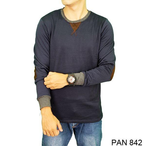 Long sleeve mens t-shirts terry navy  pan 842