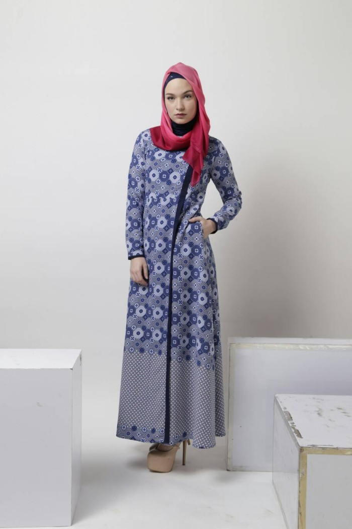 Baju Batik Muslim Gamis Zoya Terbaru
