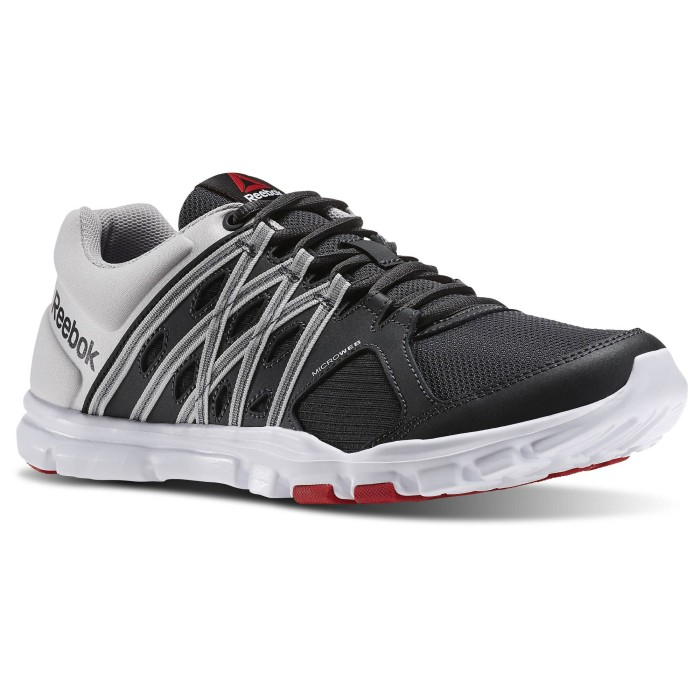 Sepatu running lari gym reebok yourflex train 8.0 hitam original murah 898eebd271