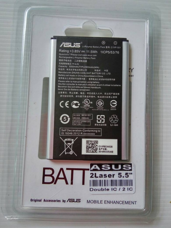 harga Baterai original asus zenfone 2 laser (5.5) Tokopedia.com