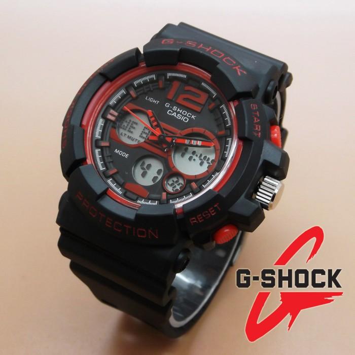 Jam Tangan Pria - Casio G-Shock GAC-110 (Black Red)