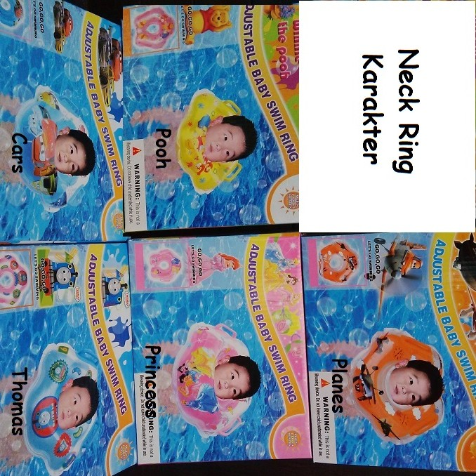 Neck Ring Karakter / Baby Swim Ring / Ban Leher / pelampung leher - Ariel