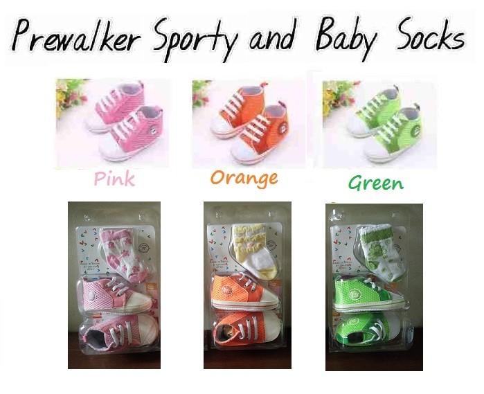 harga Prewalker shoes sporty with socks - girl / sepatu bayi / baby shoes Tokopedia.com