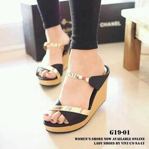 harga Sandal wedges wanita sdw92 Tokopedia.com