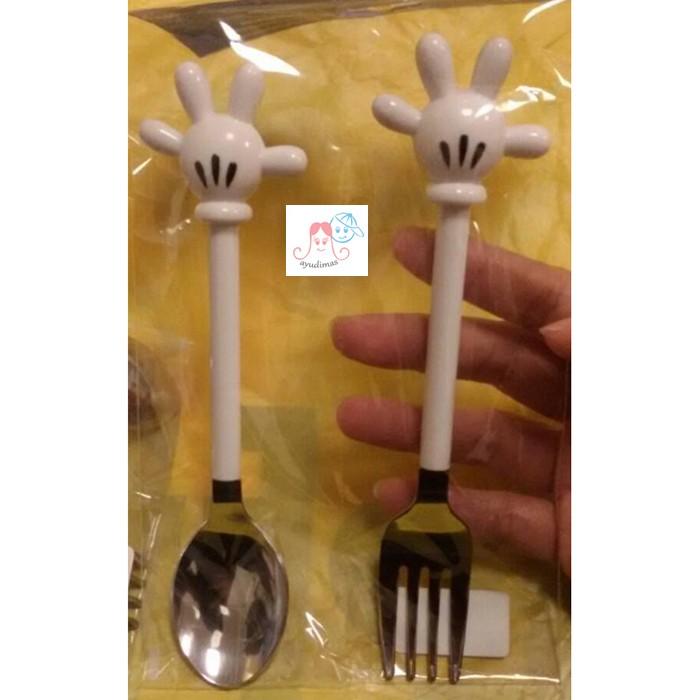 harga Tokyo disney resort - mickey spoon fork / flatware / sendok garpu Tokopedia.com