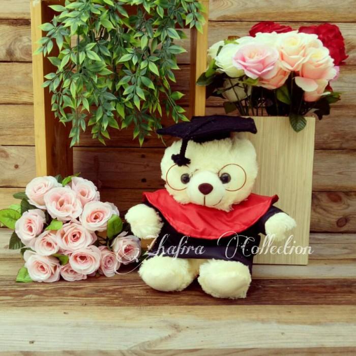Jual Boneka Wisuda Teddy Bear Kacamata Lucu - zhafira gift  12e0f3d7ca