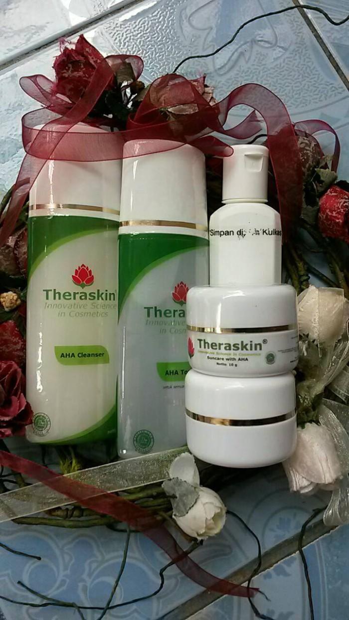 Jual Paket Kulit Flek Theraskin Cream Aha Cleanser
