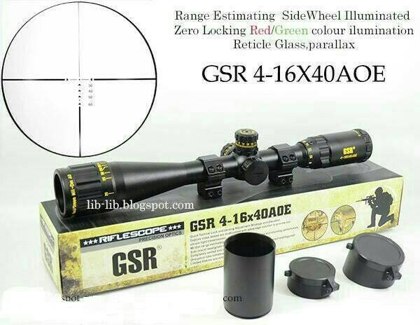 Jual teleskop senapan gsr 4 16 x 40 aoe ir gold zakazaki ol shop