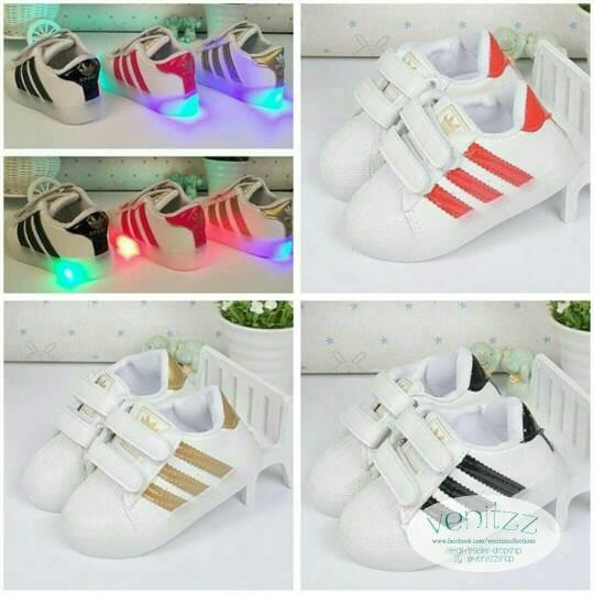 Jual LP Adidas Strip LED Lamp Shoes sz 21-25 (Sepatu Lampu Anak ... ab9d468b1f