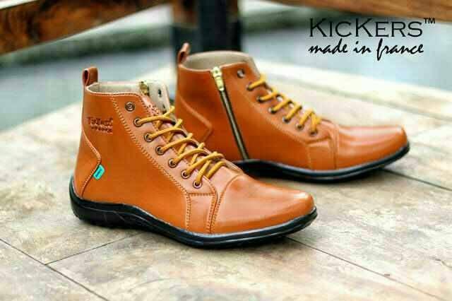 harga Sepatu pria boot casual kickers boots zippers Tokopedia.com