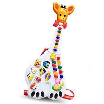 Giraffe musical mainan balita gitar piano anak jerapah
