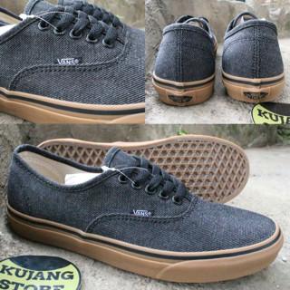 Jual sepatu vans authentic black gum original premium quality cek ... 2302712fe