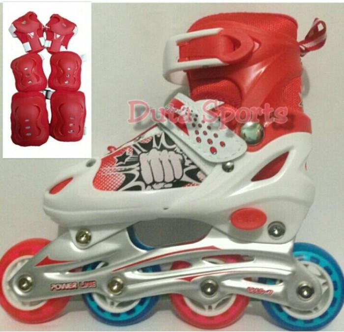 Jual Sepatu Roda Karet Harga Murah +Deker Protector 6032 J ( merah ... acd996591c