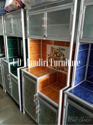 Jual Rak Piring Lemari Dapur Box Kaca Keramik 2 Dua Pintu Pipa