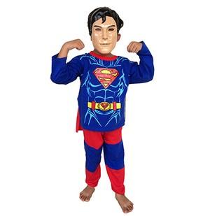 kostum superhero anak karakter superman plus topeng