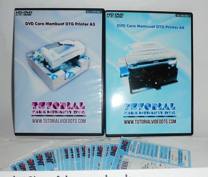 Foto Produk DVD Video panduan cara membuat Printer DTG untuk print kaos dari Tutorial Video DTG