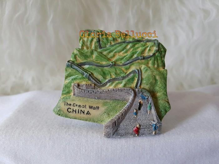 SOUVENIR TEMPELAN MAGNET KULKAS BEIJING GREATWALL KUCING HOKI CHINA