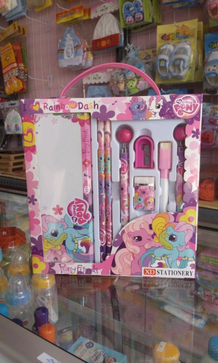Jual Paket Alat Tulis Little Pony Rainbow Dash Komplit Tempat Pensil Pinsil Dan Stationary Hadiah