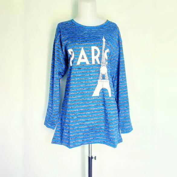 harga Baju Atasan Jumbo Kaos Spandek Salur Paris Tokopedia.com