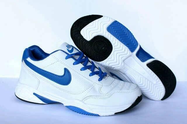 harga Nike tenis white lis bloe sepatu olahraga premium import Tokopedia.com