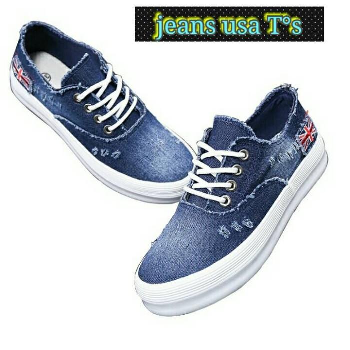 harga Sepatu wanita jeans usa biru sepatu kets wanita sepatu sneaker cewek  Tokopedia.com d3eee736bf