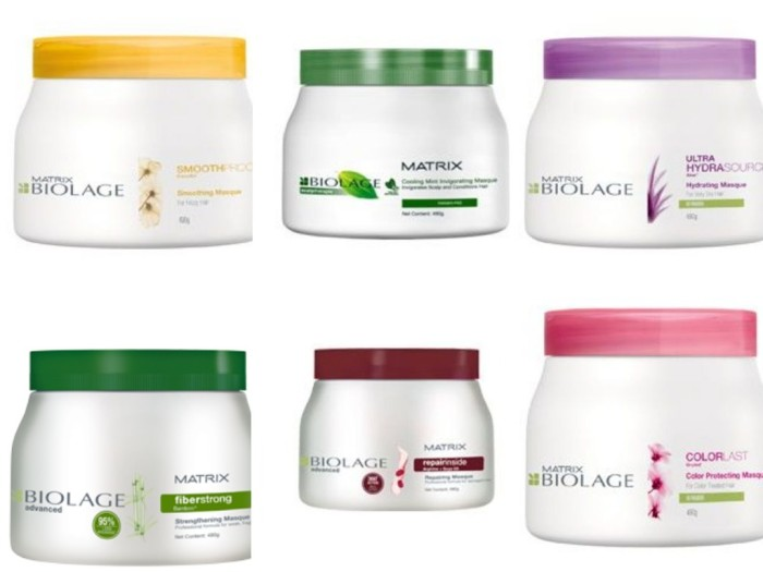 how to use matrix biolage hair mask