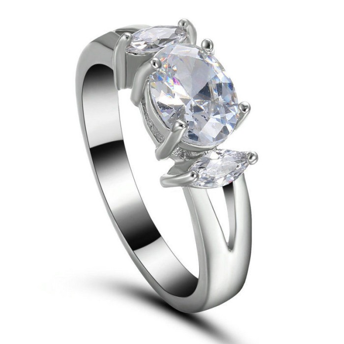 harga Cincin wanita emas putih terpadu 14kt kristal zircon Tokopedia.com