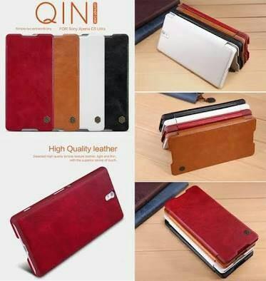 harga Sony xperia c5 ultra nillkin qin leather case book original 100% Tokopedia.com