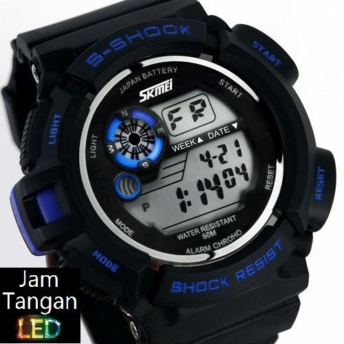 Jual Jual Jam Tangan Digital Couple SKMEI Focus Hitam Biru Import ... 05c85e4c9c