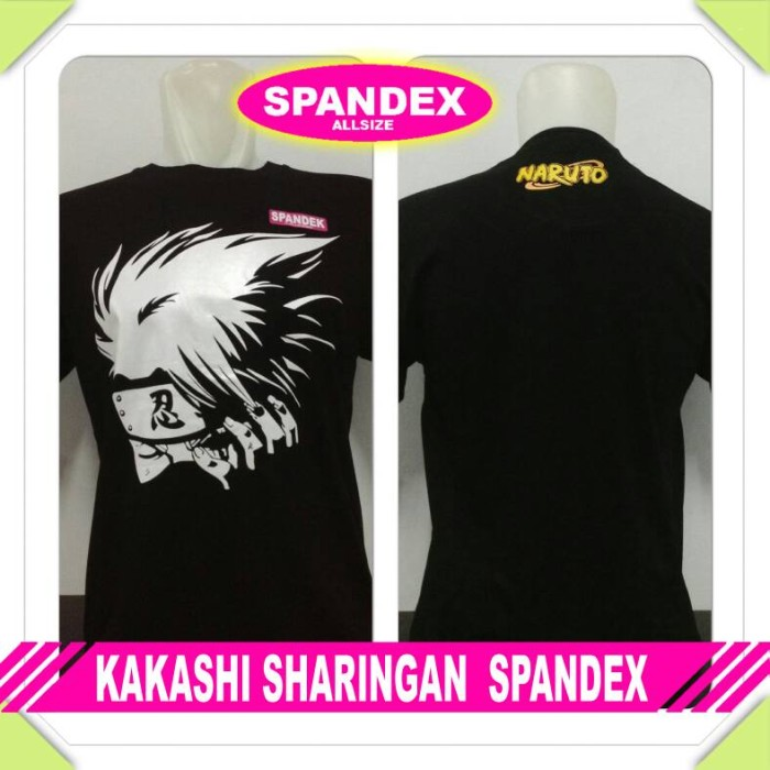 harga Kaos spandex hitam naruto kakashi sharingan anime baju distro tshirt Tokopedia.com