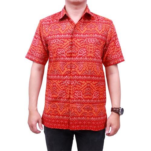 harga Batik Heritage Royal Peach Mandau Merah Slim Fit Tokopedia.com