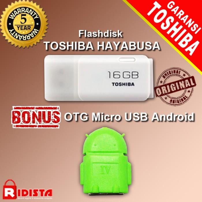 harga Flashdisk toshiba hayabusa 16gb-w193+bonus otg micro usb android(j373) Tokopedia.com