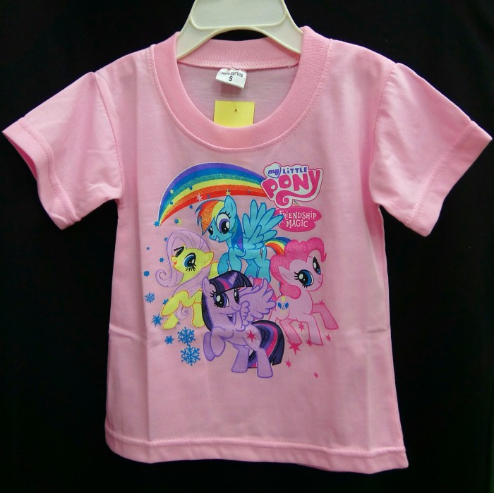 harga Baju couple my little pony friendship is magic pink souvenir ultah Tokopedia.com