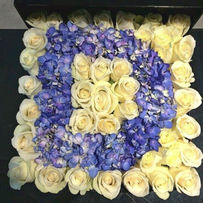 Jual Flower Box Bunga Box Huruf Jakarta Selatan Deli Flowers Tokopedia