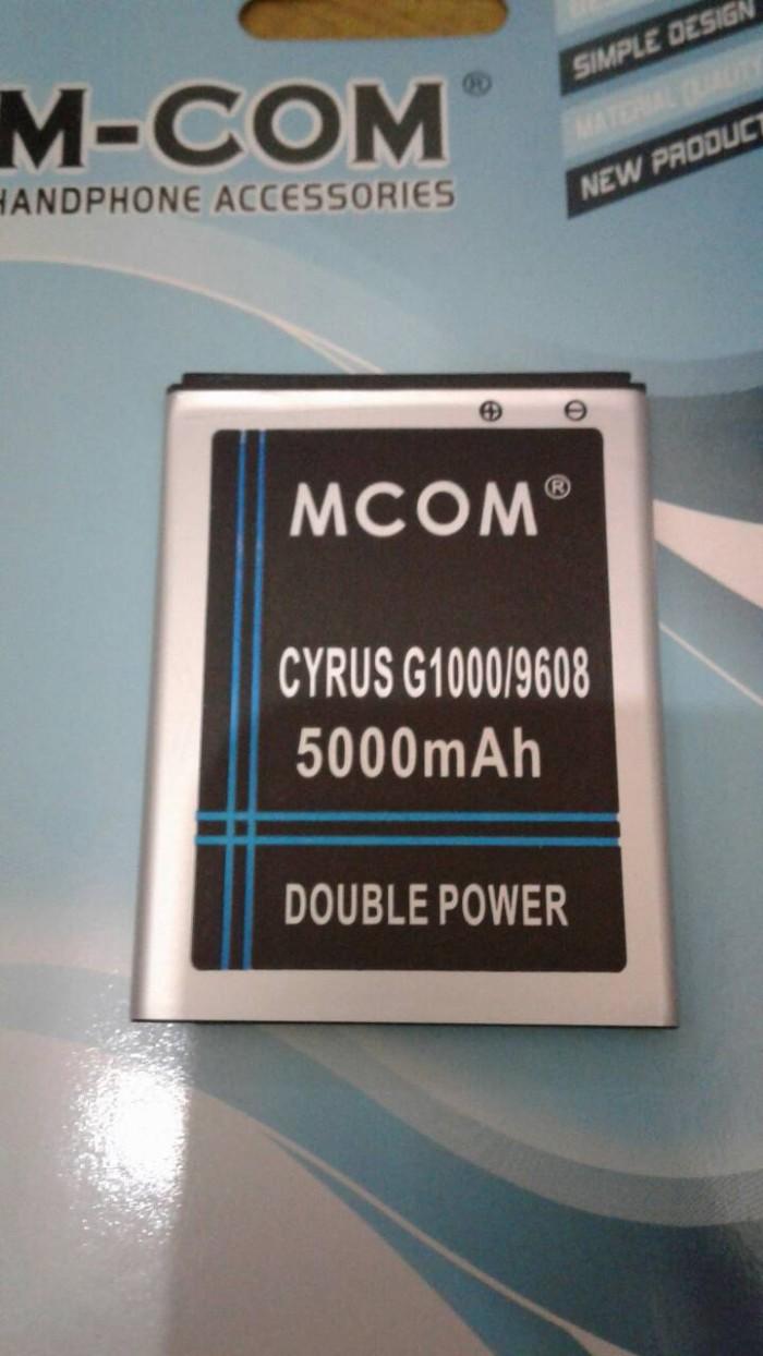 Baterai cyrus g1000 glory tbt9608 double power merk mcom