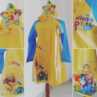 Jas hujan anak karakter winnie the pooh